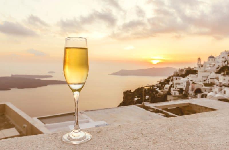 Dégustation de vin à Santorin