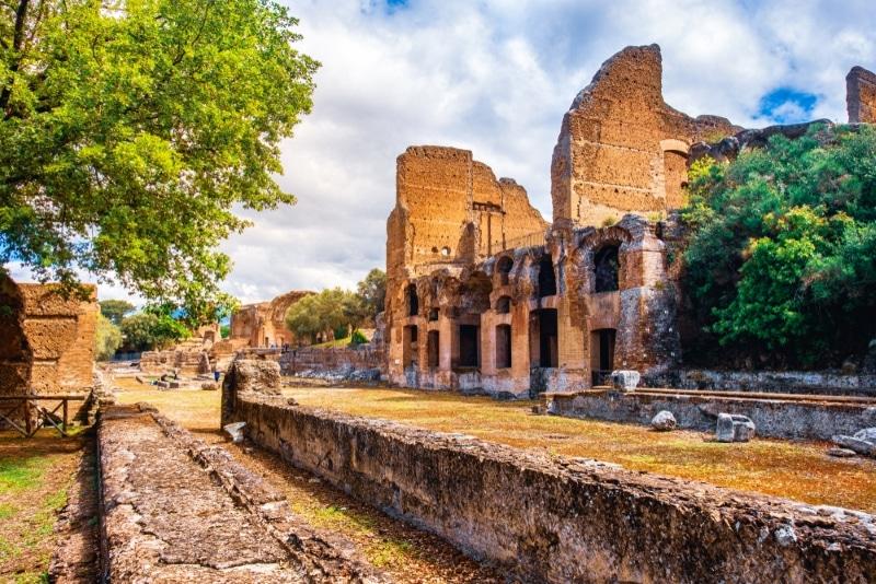 Visite des ruines de la Villa d'Hadrien rome