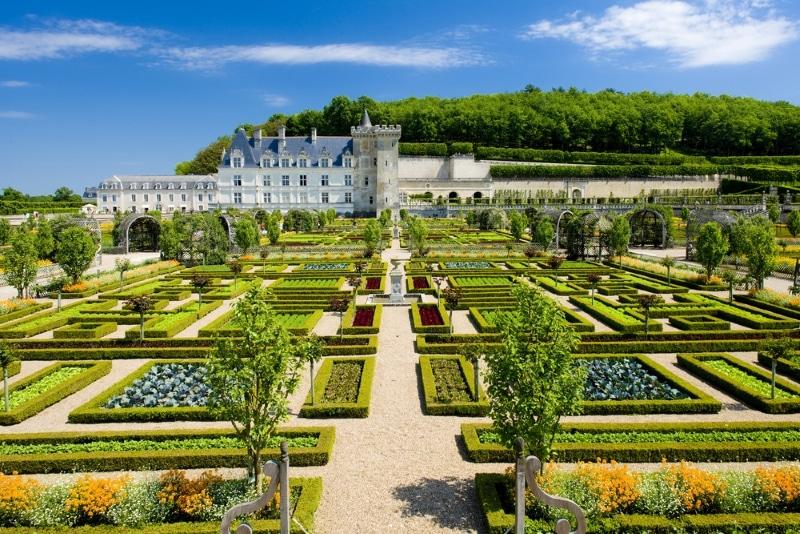 visiter le chateau de villandry vue jardins