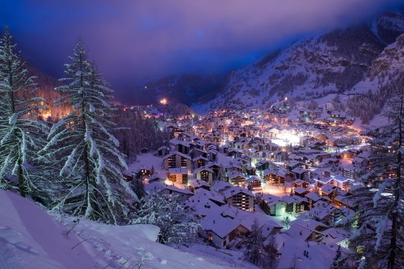Zermatt Suisse jour de l'an