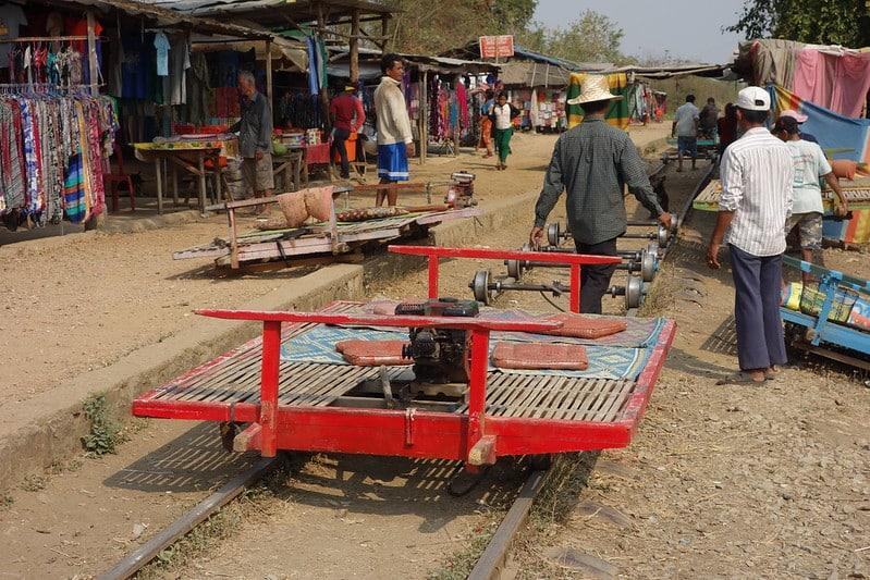 Train bambou, Battambang