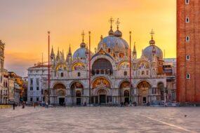 basilique saint marc venise coucher de soleil