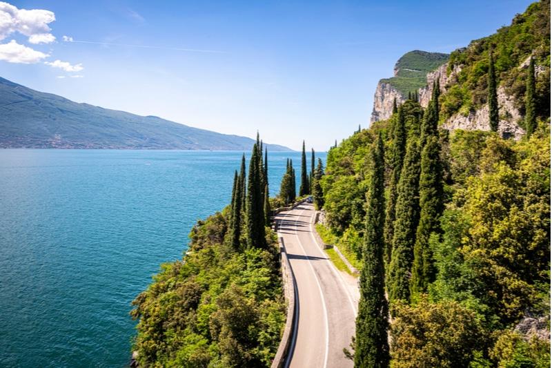 Lac de garde, route, Italie