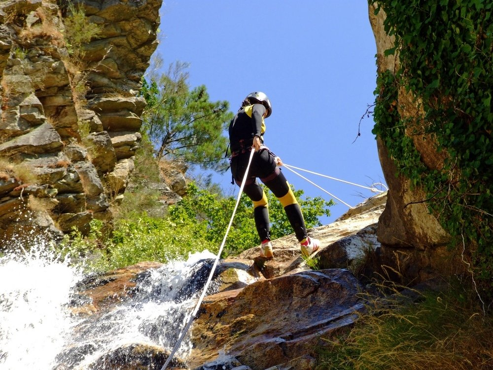 canyoning river teixeira portugal