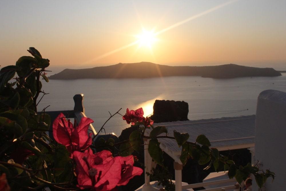 coucher soleil santorin