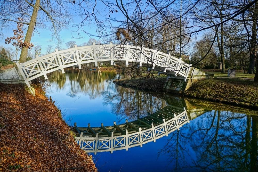 dessau worlitz riviere avec pont arche