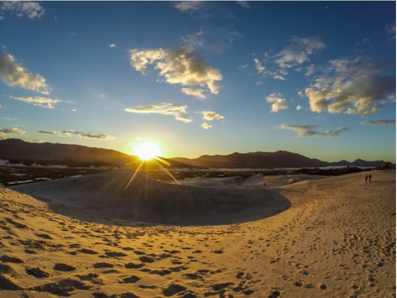 Dunes de sable Joaquina, Florianopolis