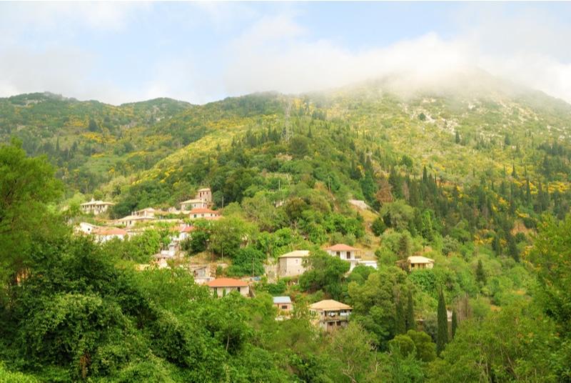 Eglouvi, village, Lefkada