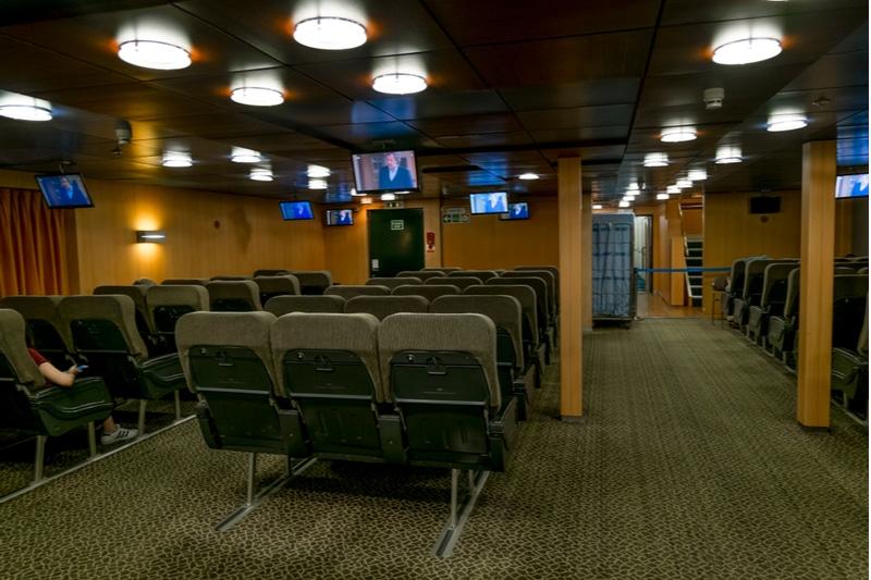 Intérieur d'un ferry, Héraklion
