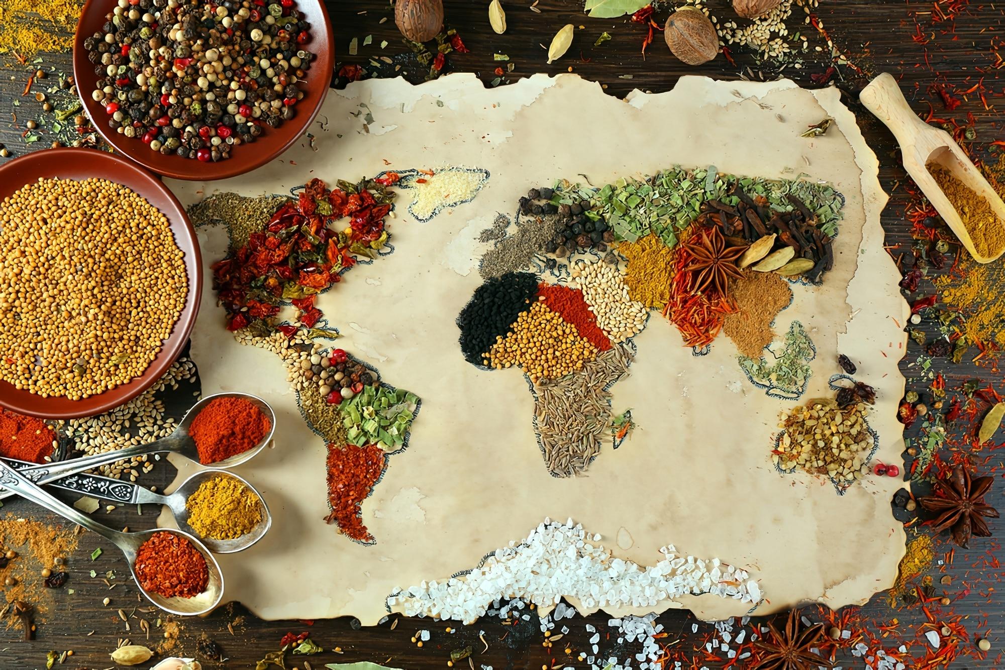 gastronomie monde carte