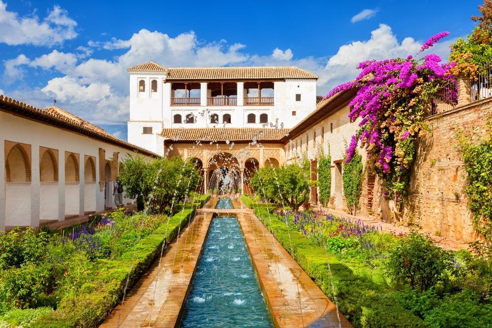 generalife jardins alhambra grenade espagne