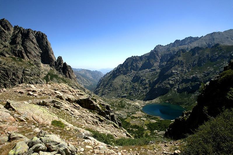 Lac de Melo et montagnes, Gorges de la Restonica, Corse