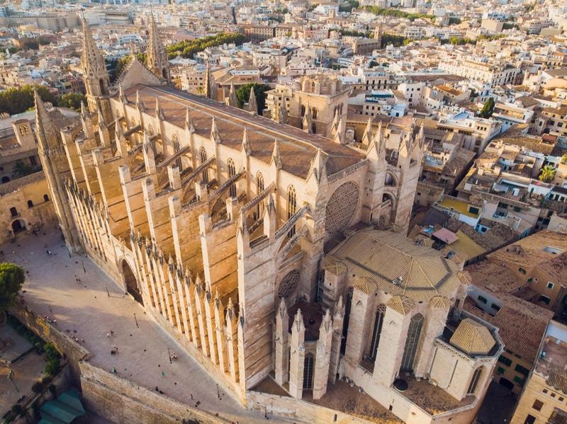 Cathédrale de Palma vue de haut