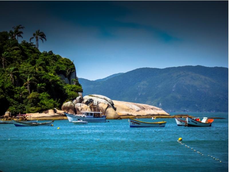 Bateaux sur l'île de Campeche, Florianopolis