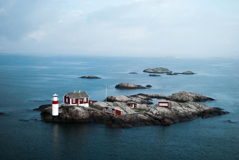 ile maisons perdues archipel goteborg suede