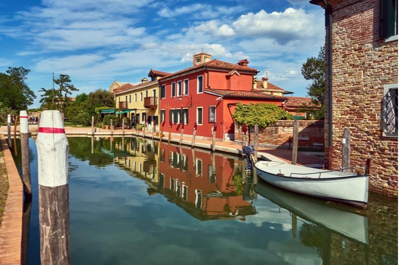 Bateau, île de Torcello, Venise