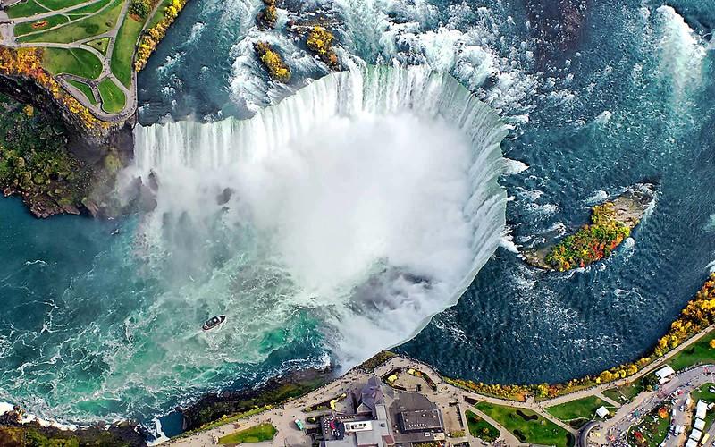 Vol pour les chutes du Niagara