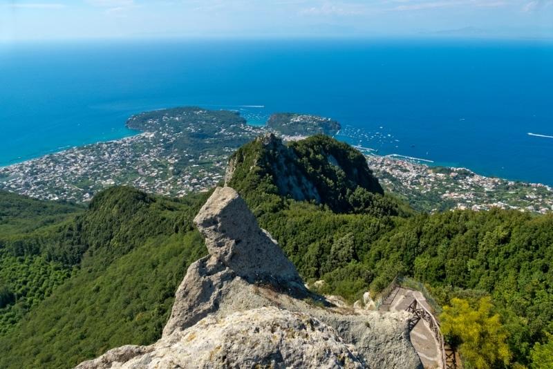 vue depuis le Monte epomeo panorama