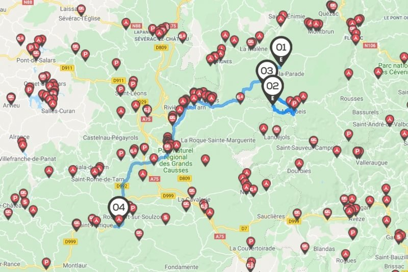 Camping car : itinéraire dans les Gorges du Tarn