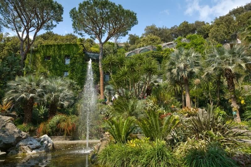 la mortella jardin palais au large de Naples