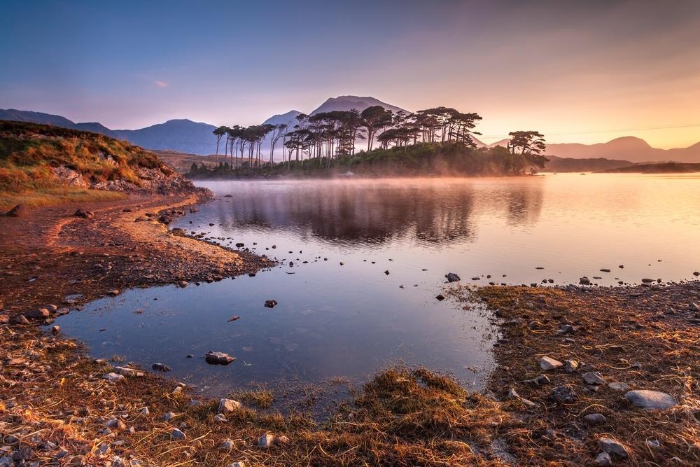 lacs du connemara lever de soleil irlande