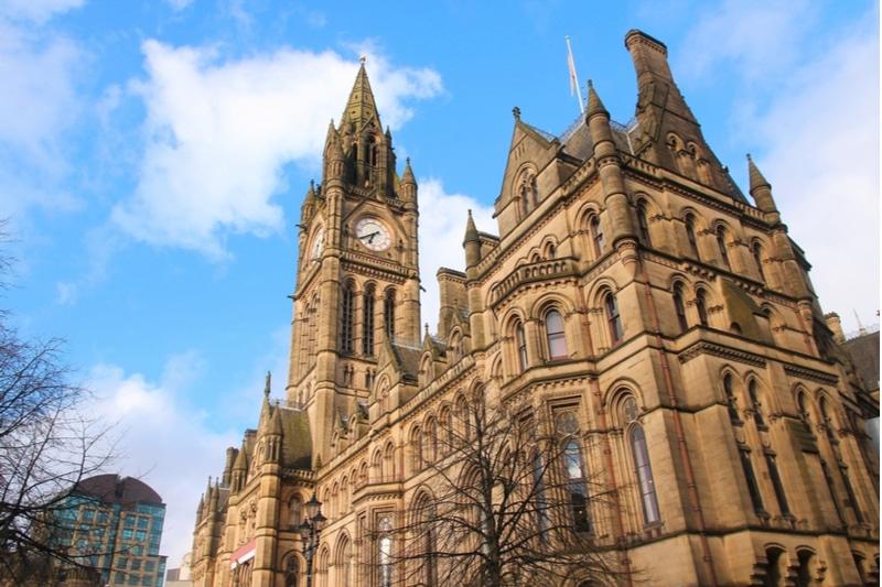 Manchester town Hall, Hôtel de ville de Manchester
