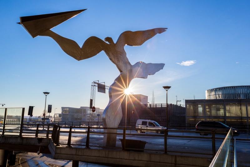 Statue aéroport d'Oslo