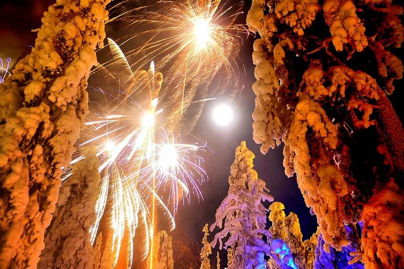 Fêter le Nouvel An en Laponie