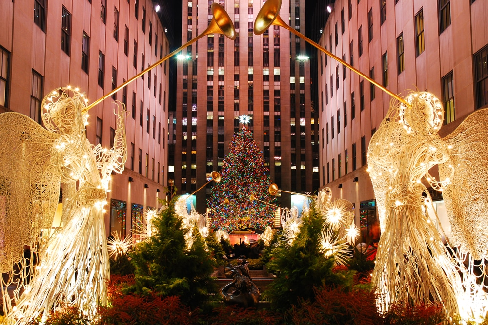 Rockefeller, sapin, Noël, New-York