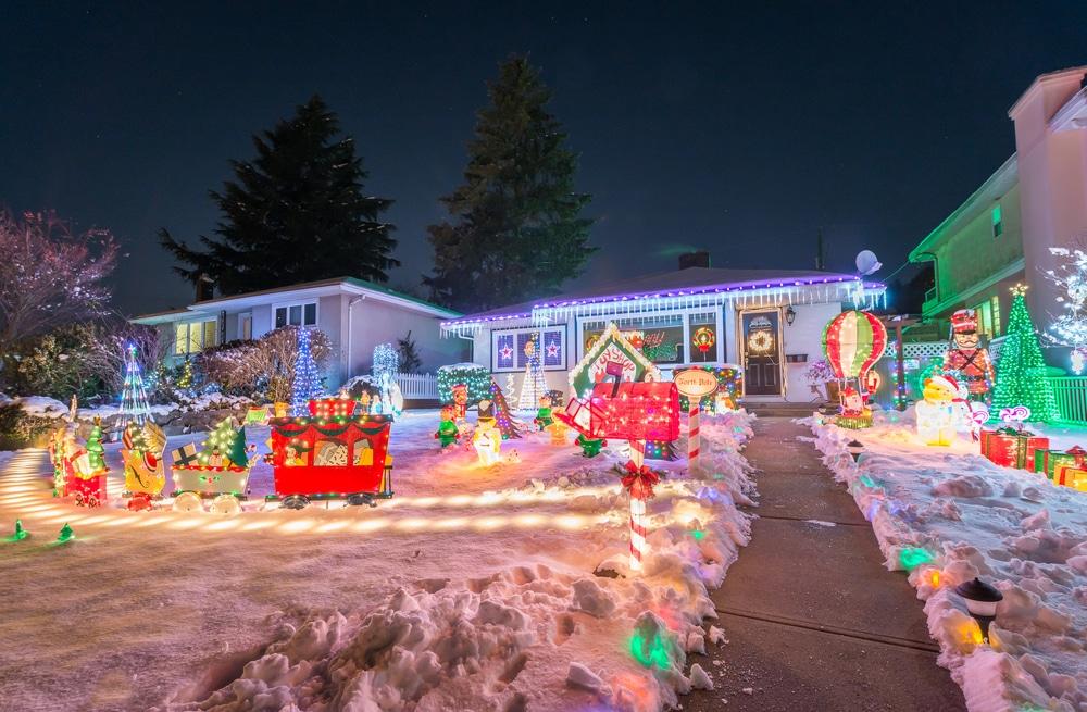 Maison illuminée, décorations de Noël, Vancouver