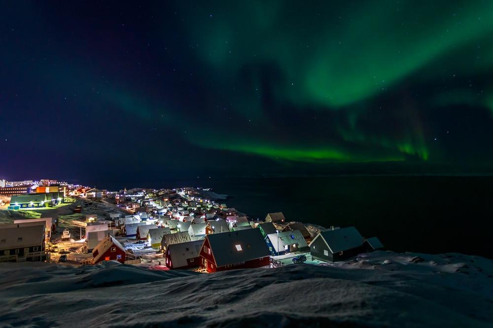 Aurore boréale près de Nuuk, Groenland