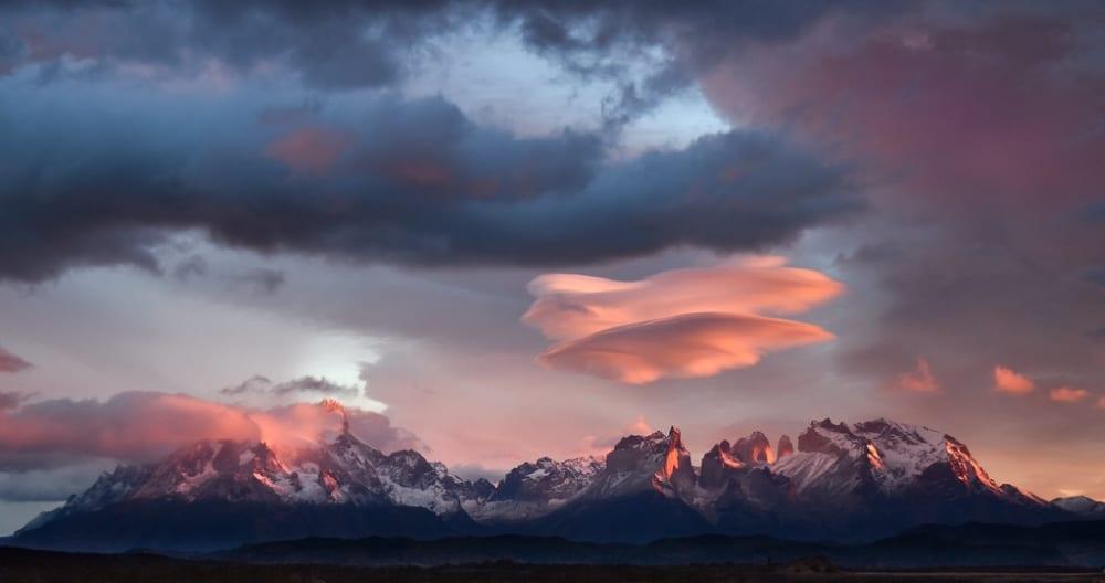 patagonie argentine montagnes enneigees