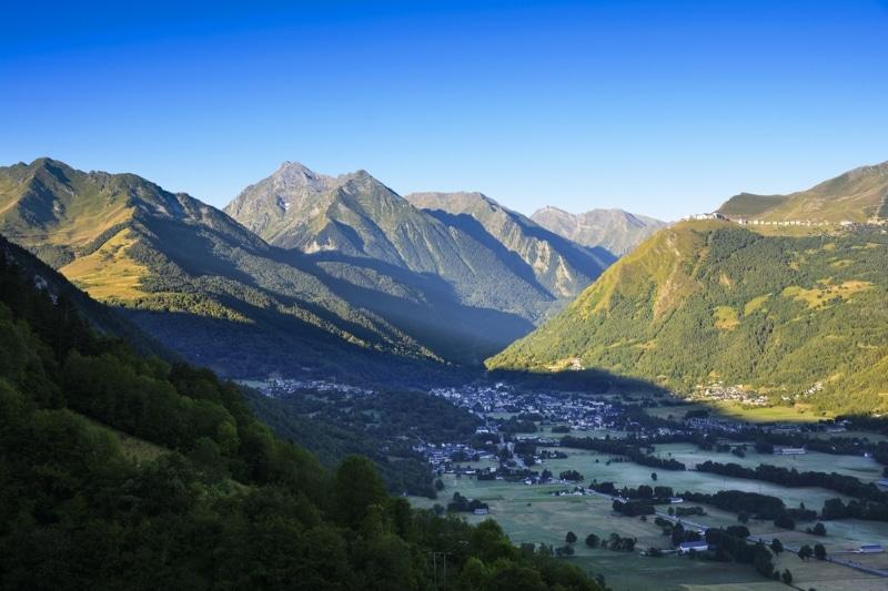paysage de saint lary soulan dans les pyrenees