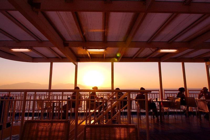 Personnes sur un ferry, Amorgos Athènes