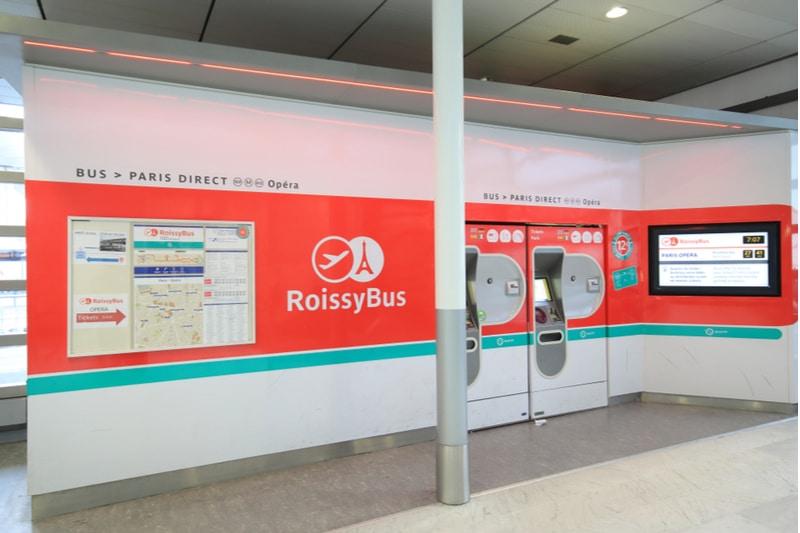 Roissy bus, aéroport de Paris
