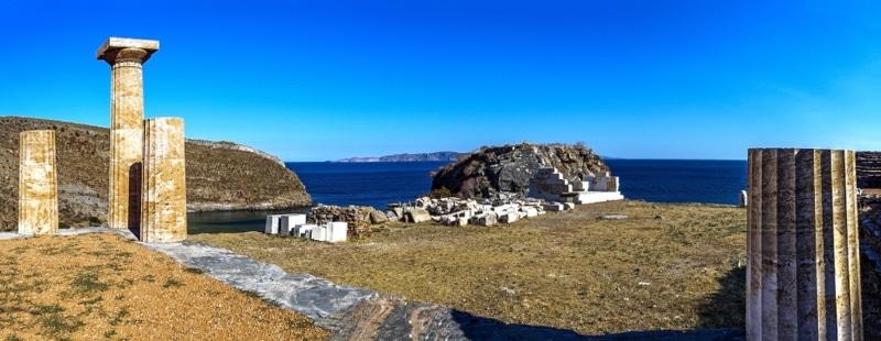 site archeologique karthera ile de kea
