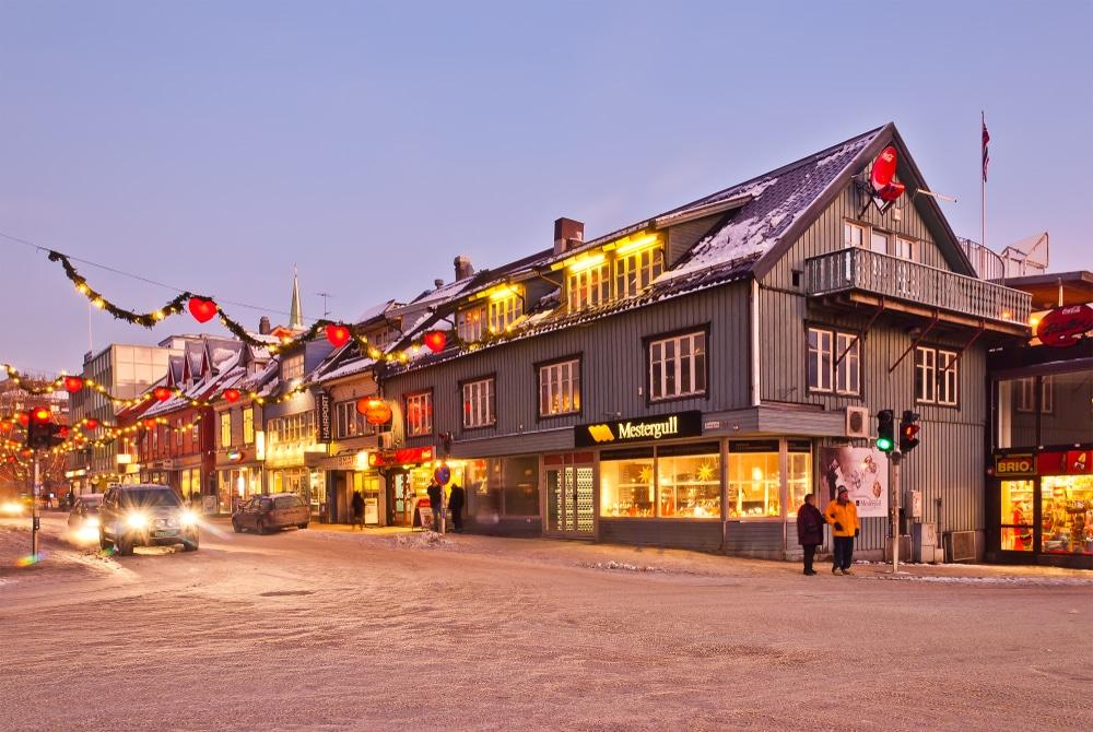 Tromsø, illuminations, Norvège