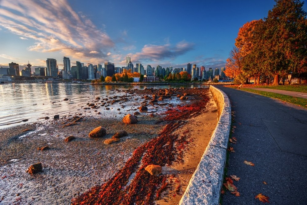 vancouver automne vue lac et arbres villes les plus écologiques du monde