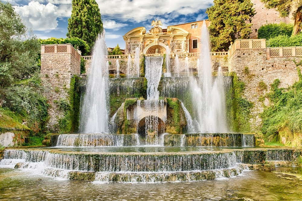 villa este en italie jardins fontaine