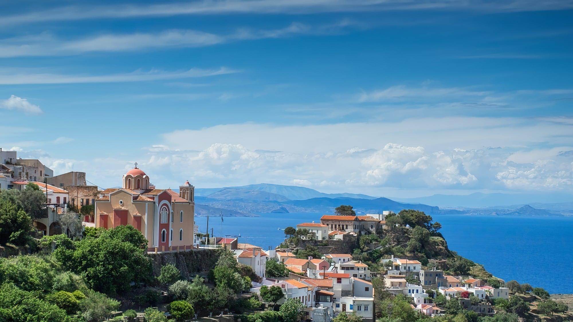 visiter kea grece montagnes villas mer