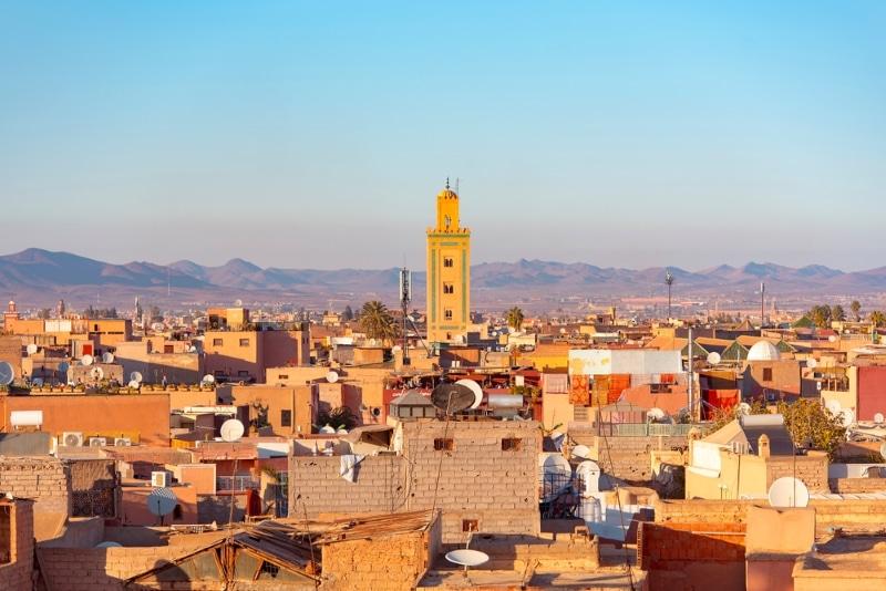 vue globale ville de marrakech