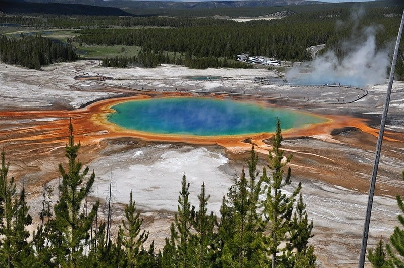 vue sur le parc national de yellowstone