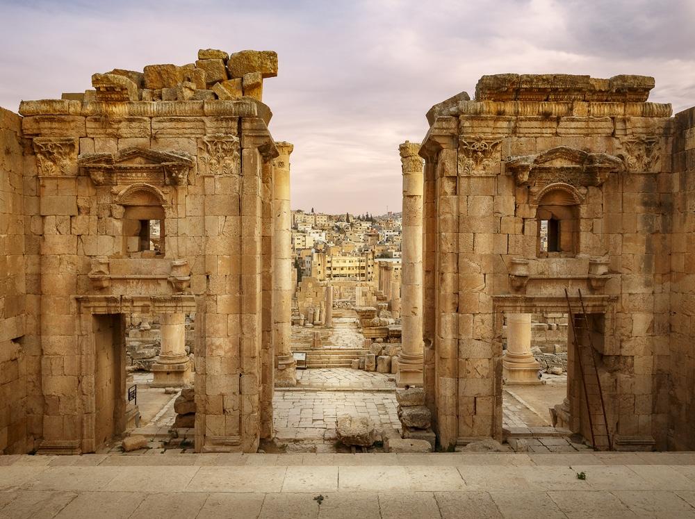 Temple, Jerash, Jordanie