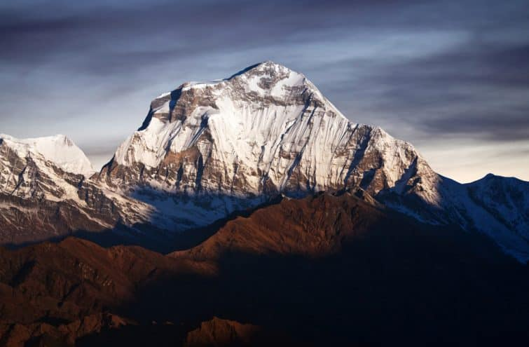 Panorama du mont Dhaulagiri - népal