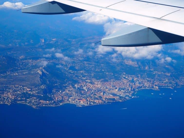 Vol entre Nice et Monaco, vue sur Villefranche-sur-mer et Monaco
