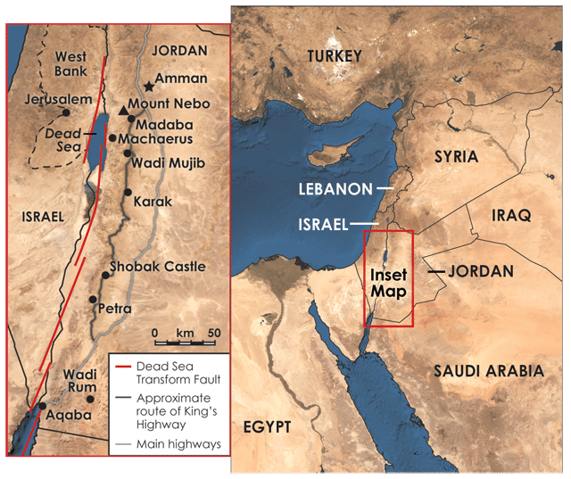 Carte du jordan Trail