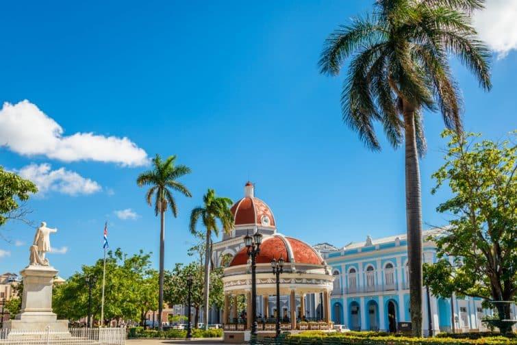 Parc central Cienfuegos Jose Marti, Cuba