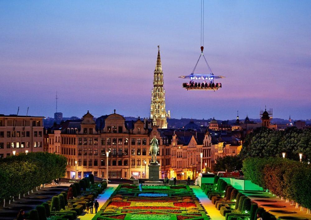 Dinner in the Sky, Mon des Arts, Bruxelles