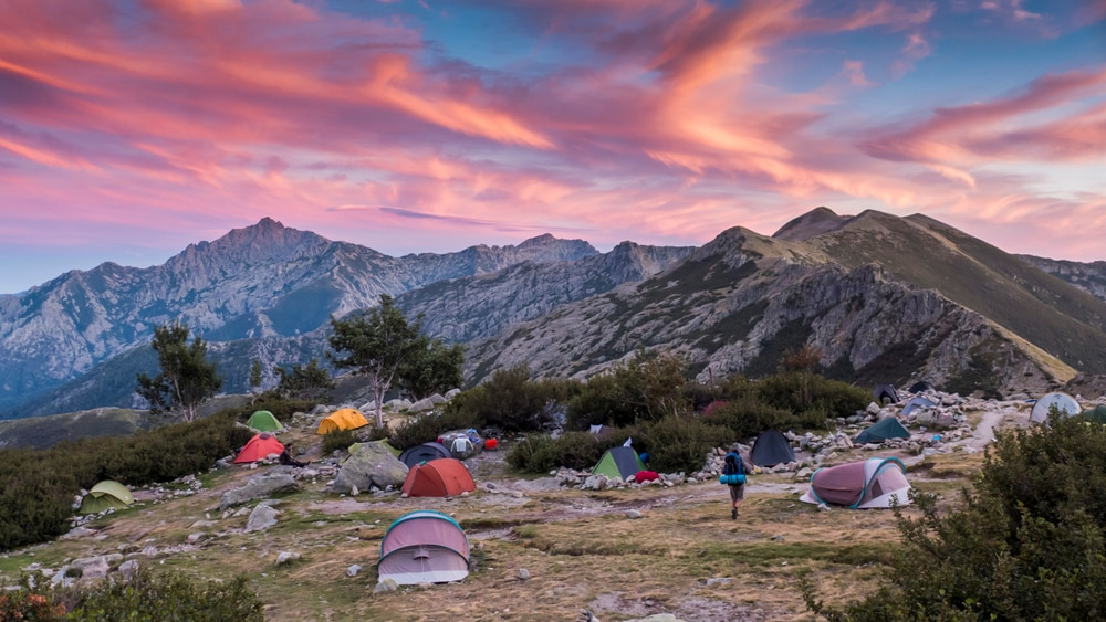 Campement à Petra Piana, GR 20, Corse