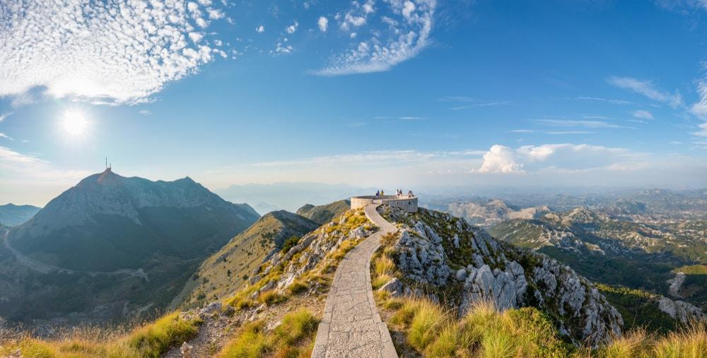 Point de vue panoramique au parc national du Lovcen, Monténégro